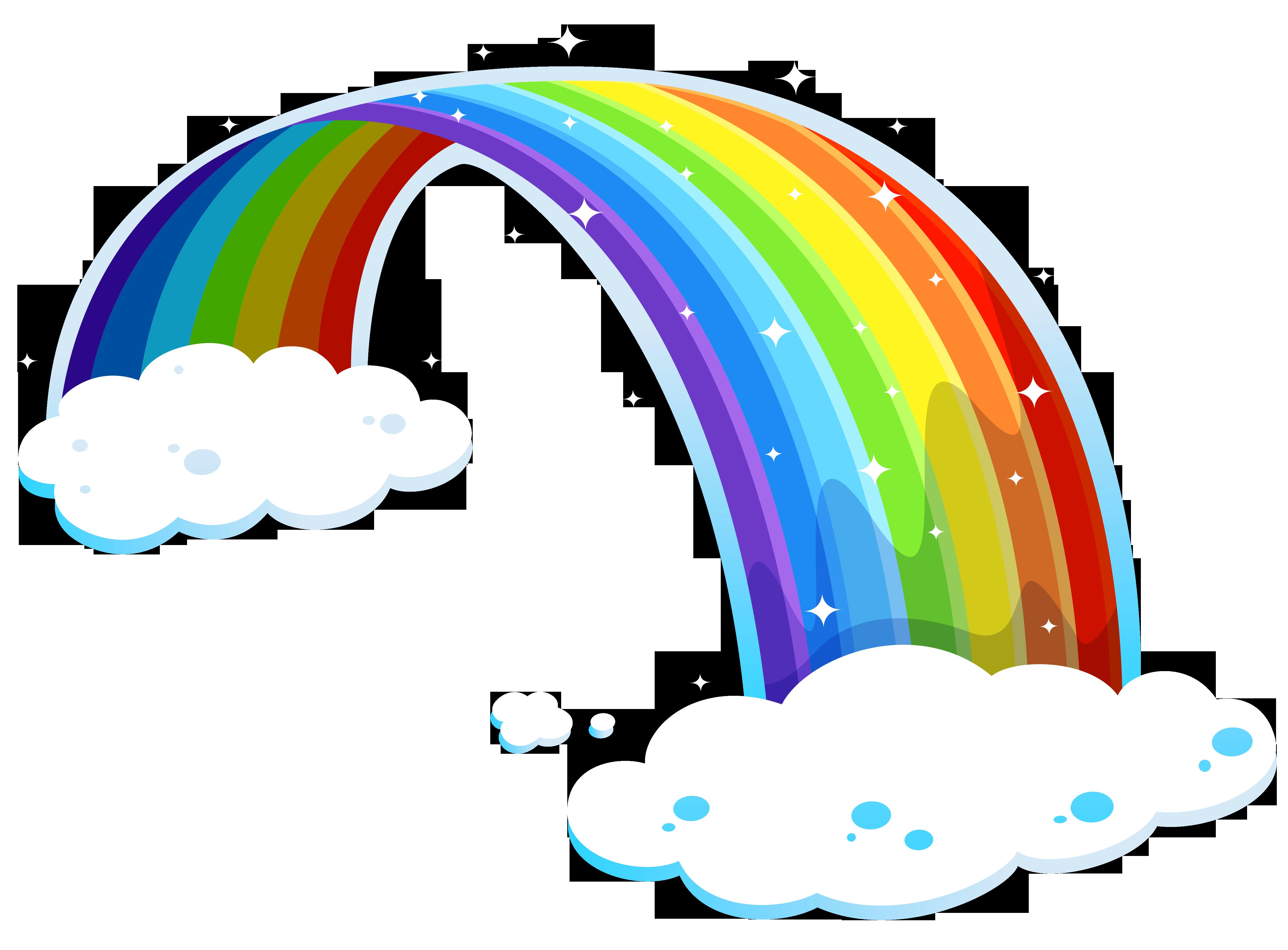 5068x3737 Half Rainbow Clipart