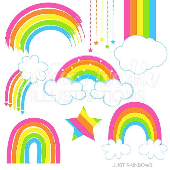 570x570 Just Rainbows Cute Digital Clipart Rainbow Clip Art Rainbow