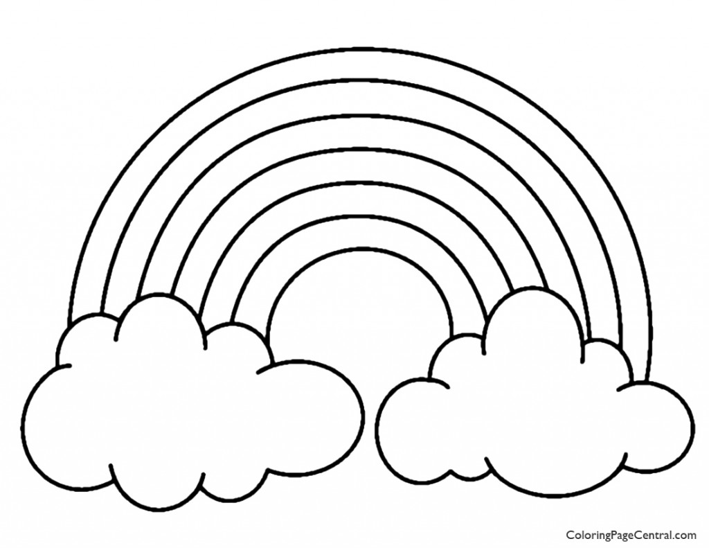 Rainbow Coloring Page | Free download best Rainbow Coloring Page on ...
