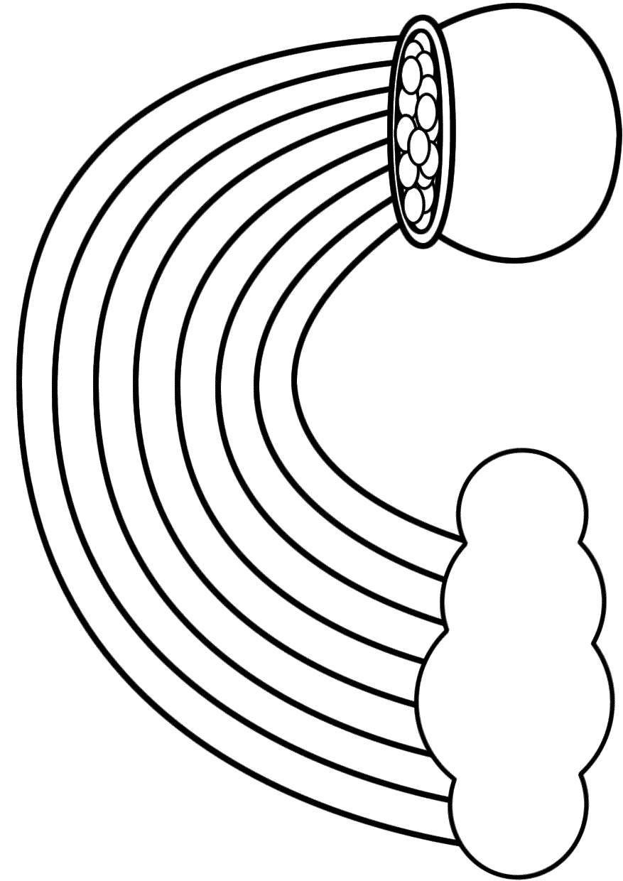 Rainbow Coloring Page   Free download on ClipArtMag