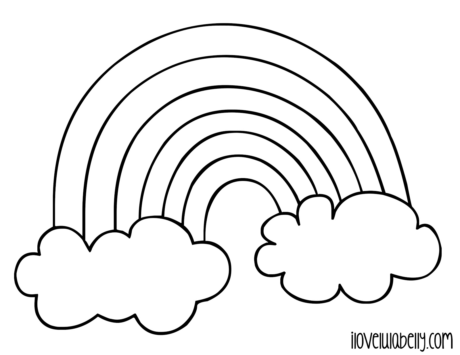 Rainbow Coloring Page | Free download on ClipArtMag
