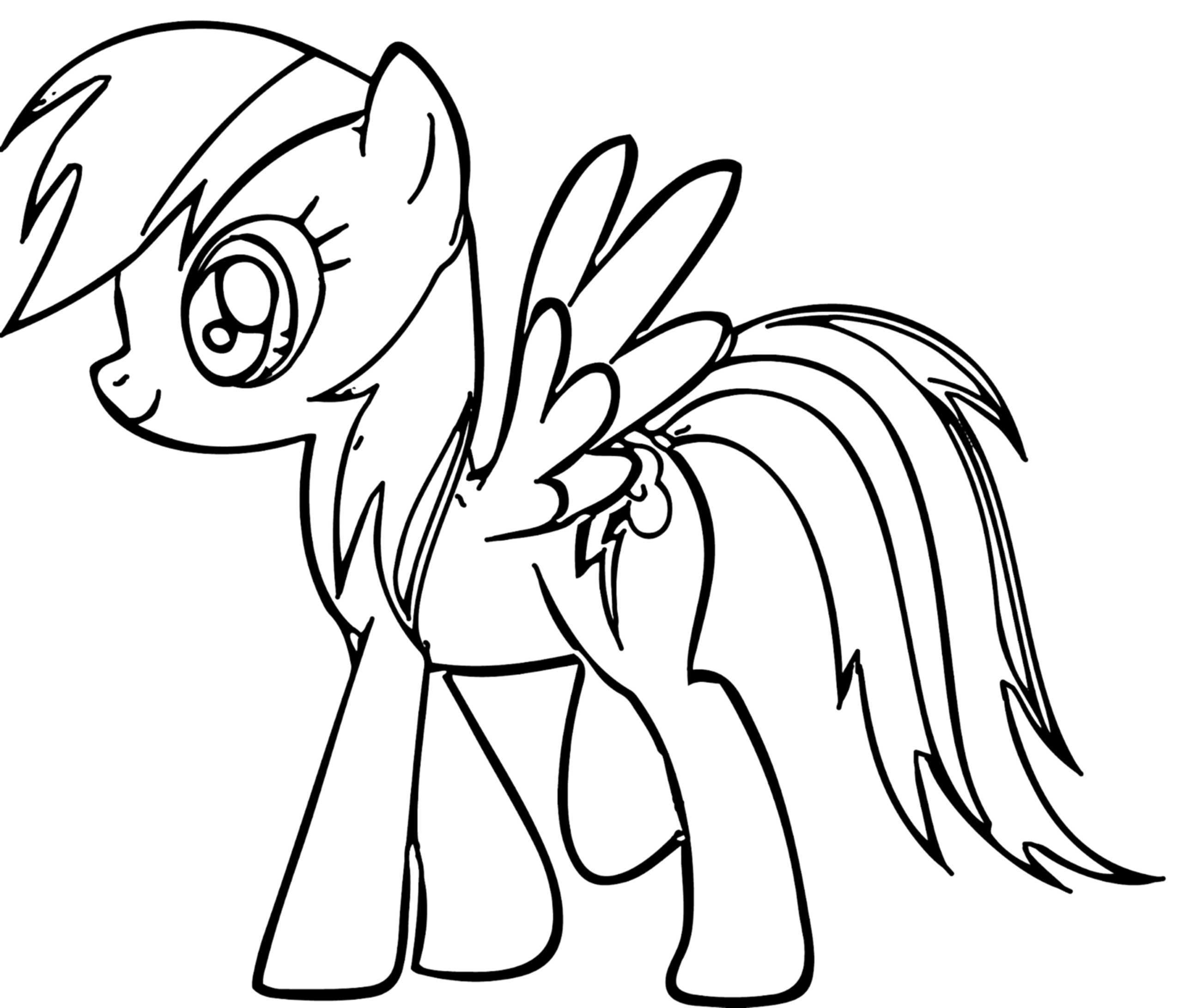 rainbow dash coloring page free download best rainbow dash