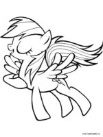 150x200 Free Printable Rainbow Dash Coloring Pages For Kids