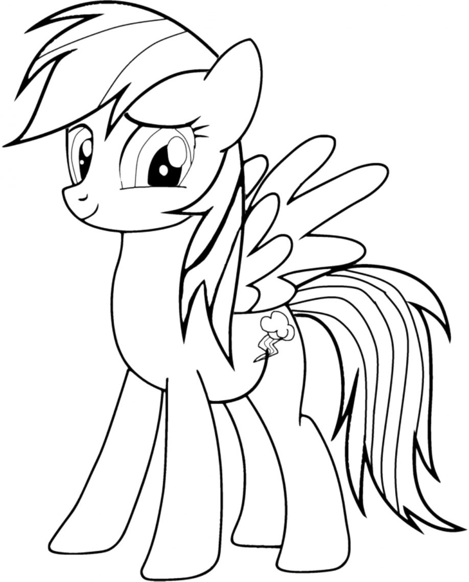 918x1140 Kid Coloring Pages My Little Pony Rainbow Dash 423594