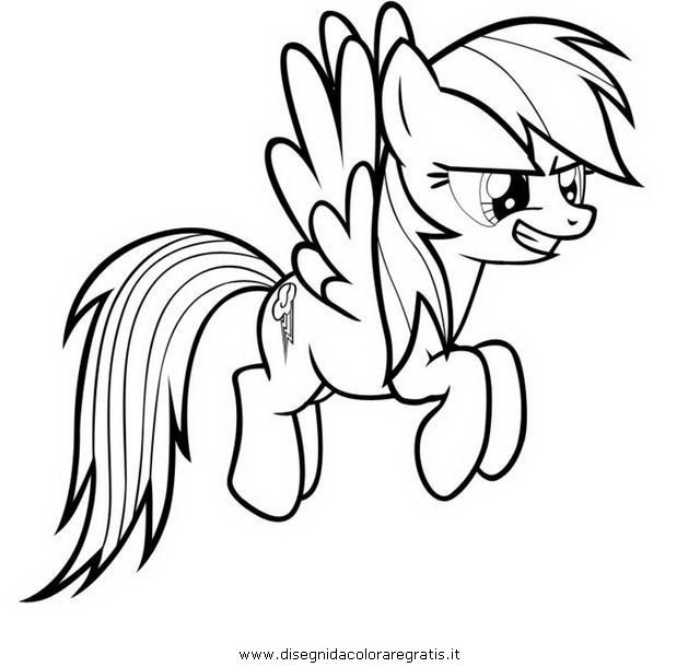 Rainbow Dash Coloring Page | Free download best Rainbow Dash ...