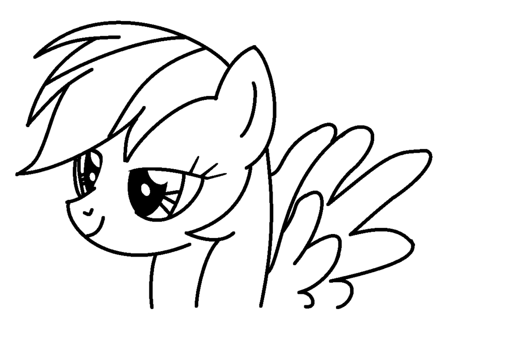 1024x693 Rainbow Dash Coloring Page By Rachelclara