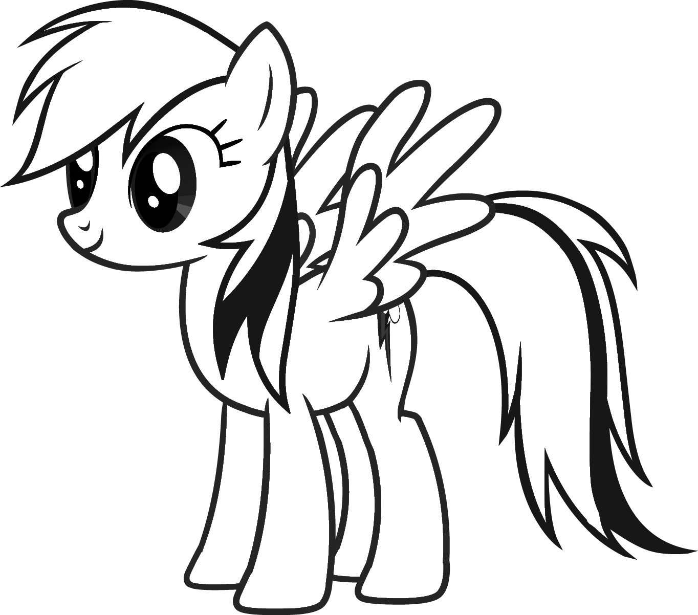 1364x1202 Rainbow Dash Coloring Pages