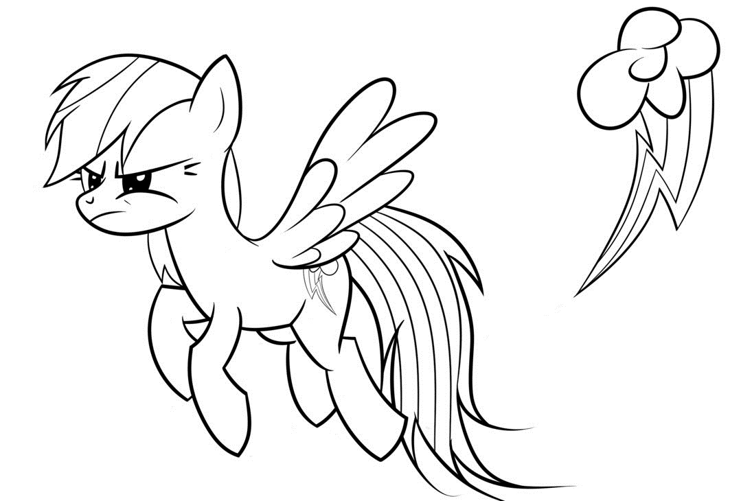 1095x730 Rainbow Dash Coloring Pages