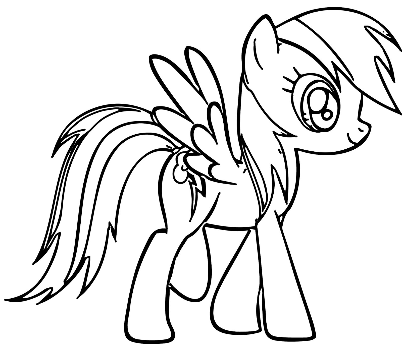 1600x1370 Rainbow Dash Coloring Pages For Kids