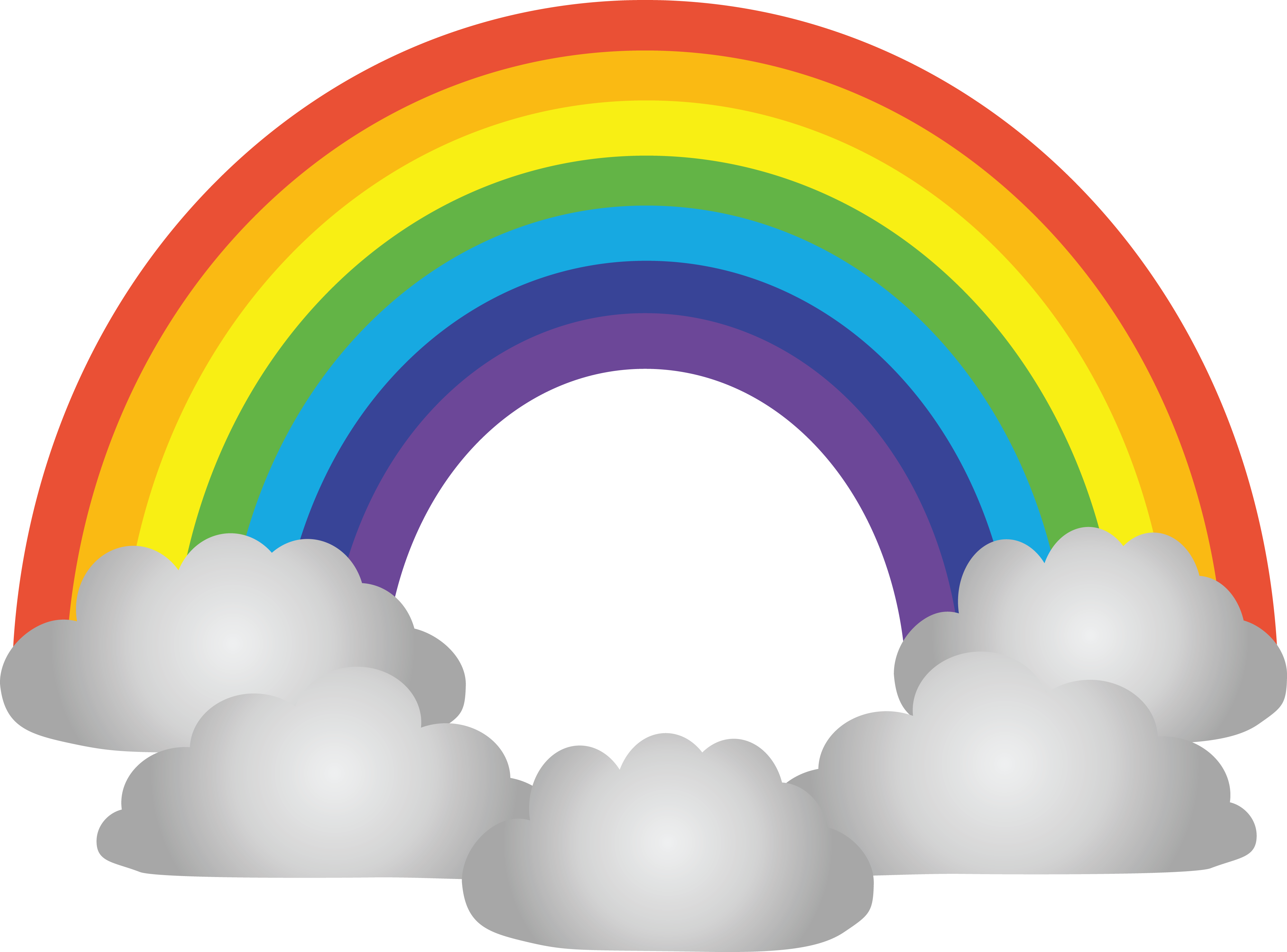 4000x2959 Free Clipart Of A Rainbow And Clouds