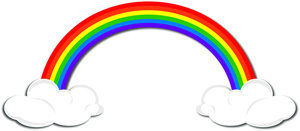 300x131 Free Clipart Images Rainbow Clipartfest