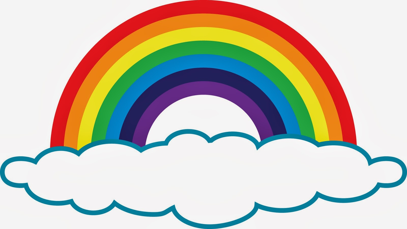 1600x901 Rainbow With Clouds Clipart Free Images