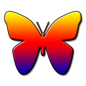 300x300 Clipart Picture Of A Rainbow Colored Butterfly