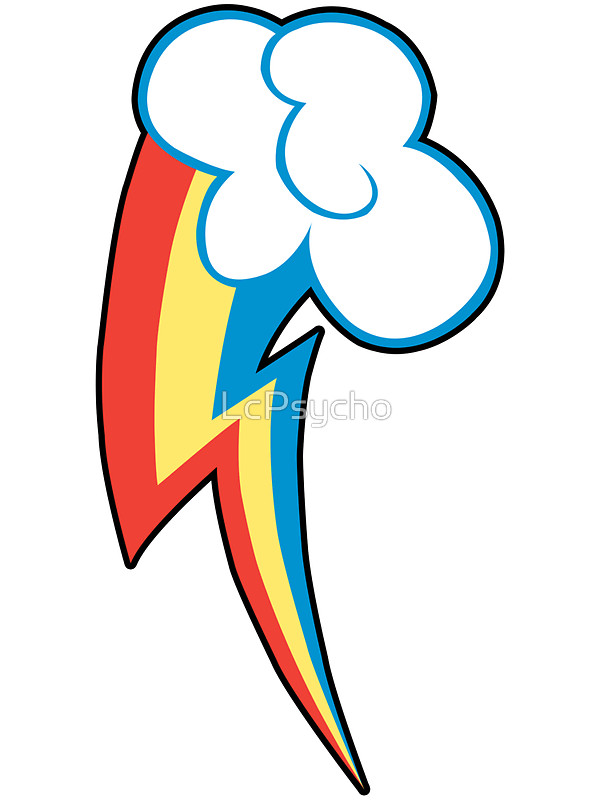 600x800 Rainbow Dash Cutie Mark (Outline) Stickers By Lcpsycho Redbubble
