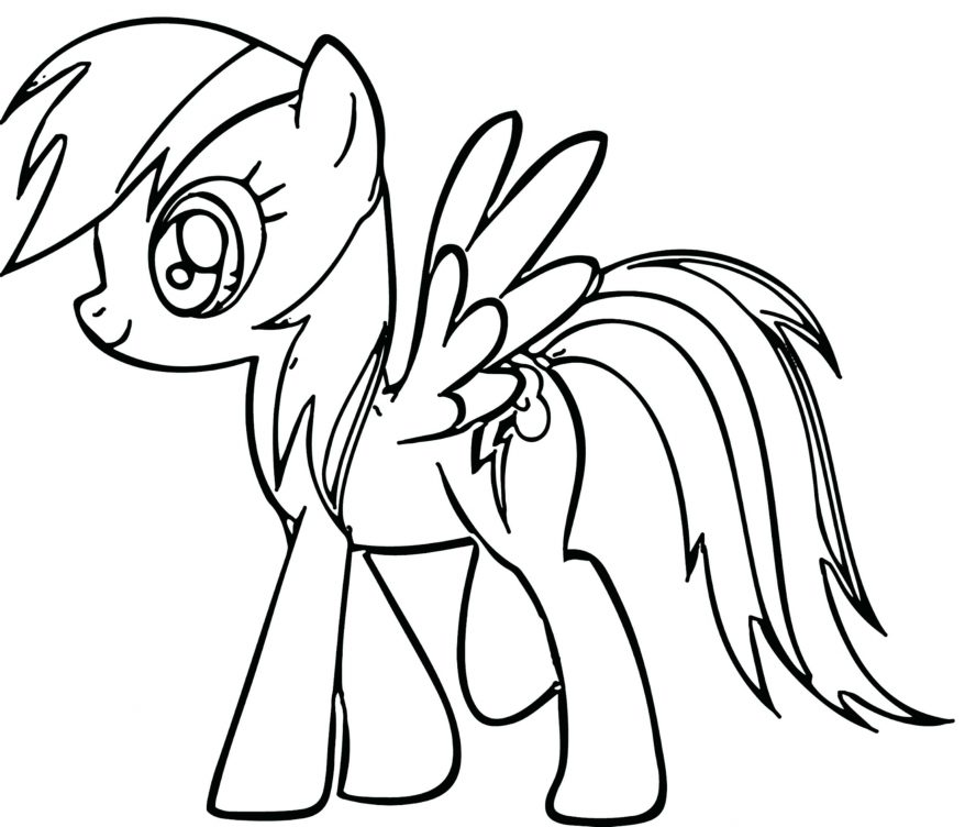 878x752 Rainbow Dash Outline By 100 Appealing Mlp Mlp Rainbow Dash Outline