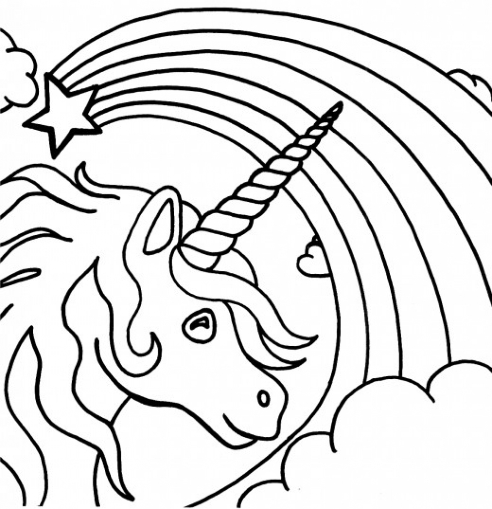 991x1024 Black And White Rainbow Coloring Page 559785