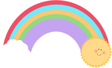 383x233 Black And White Rainbow Outline Free Clipart Images