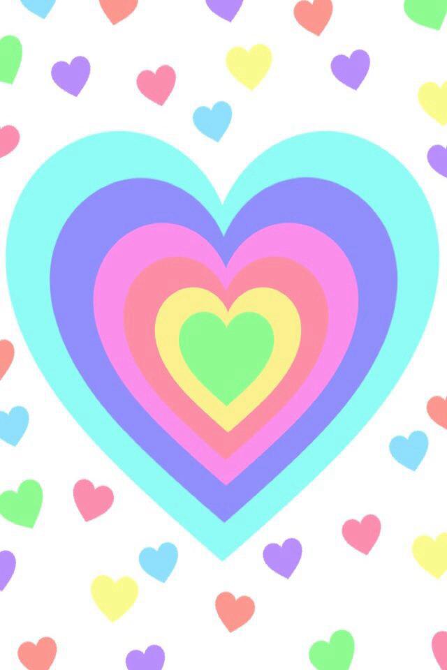 640x960 Rainbow Heart Wallpaper Iphone Wallpaper Wallpaper