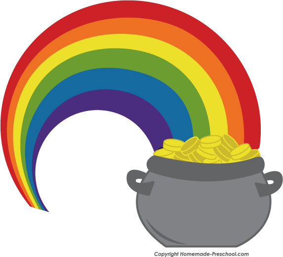 Rainbow Pot Of Gold Clipart