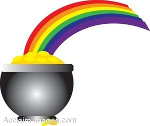 300x253 St. Patrick's Day Clip Art Of A Rainbow Leading To A Pot Of Gold