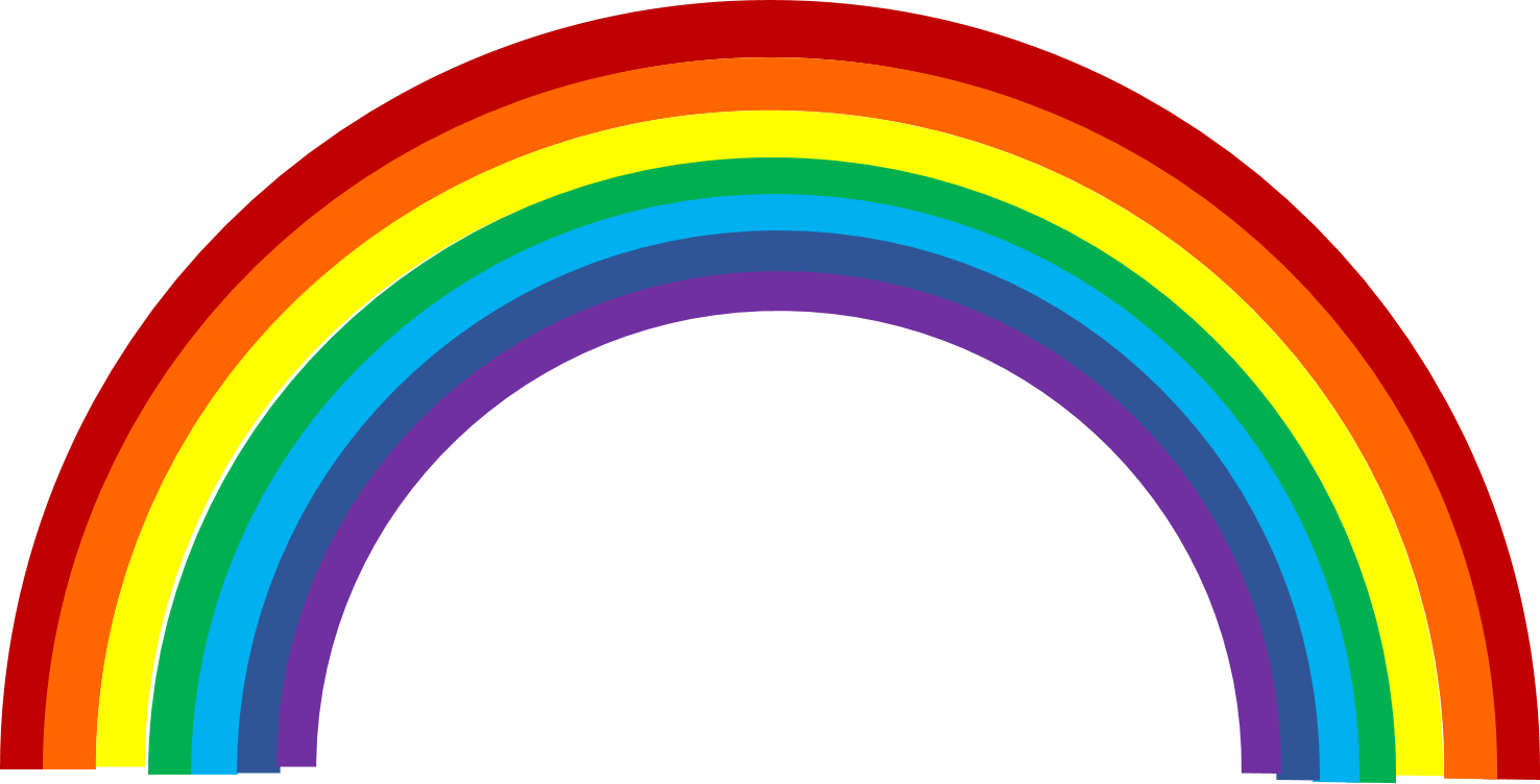 Rainbow Transparent Background | Free download on ClipArtMag