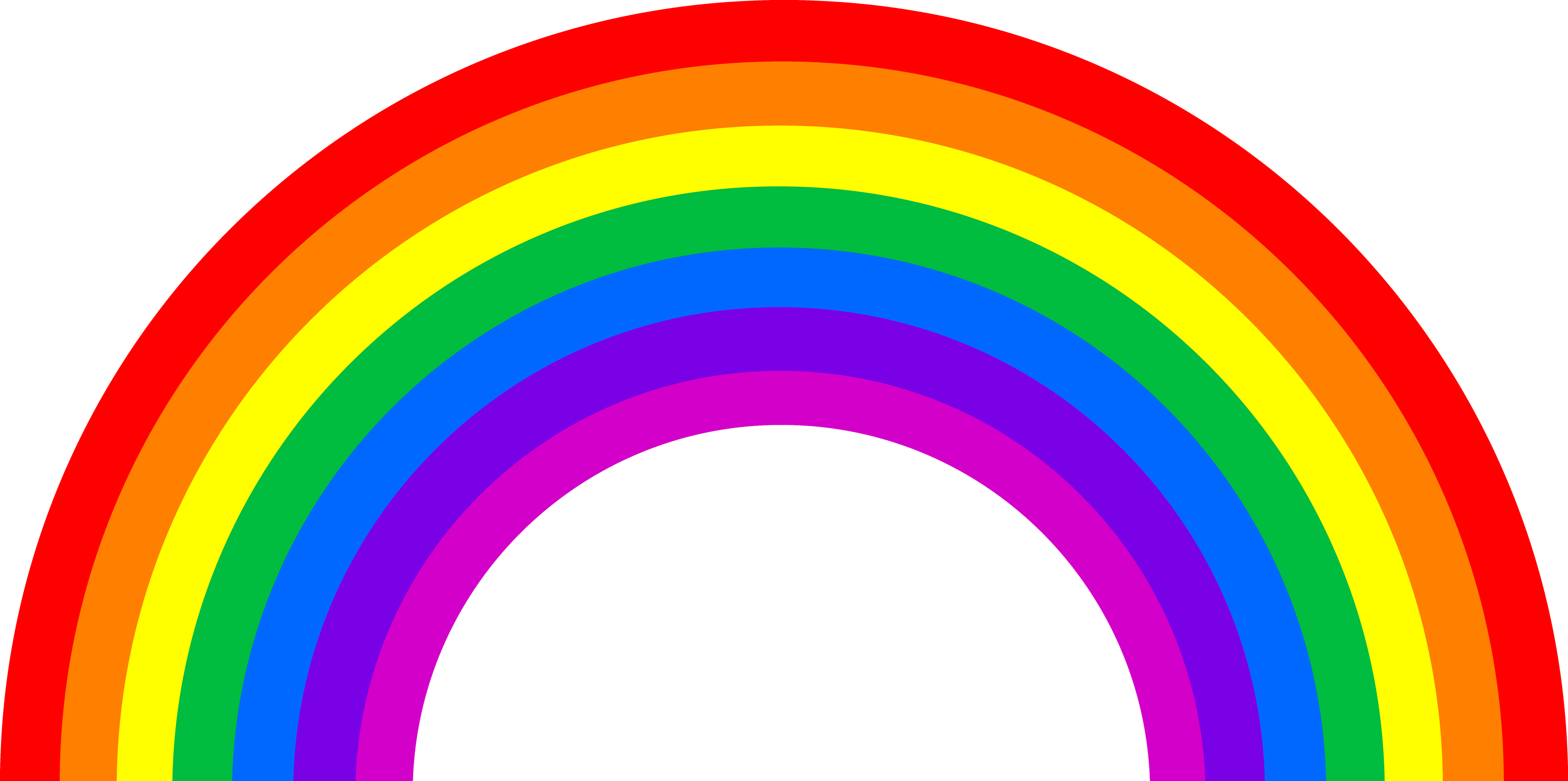 Rainbow Transparent Background   Free download on ClipArtMag