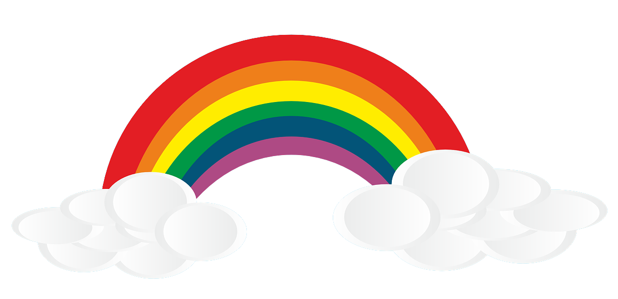 1224x592 Clouds clipart rainbow cloud