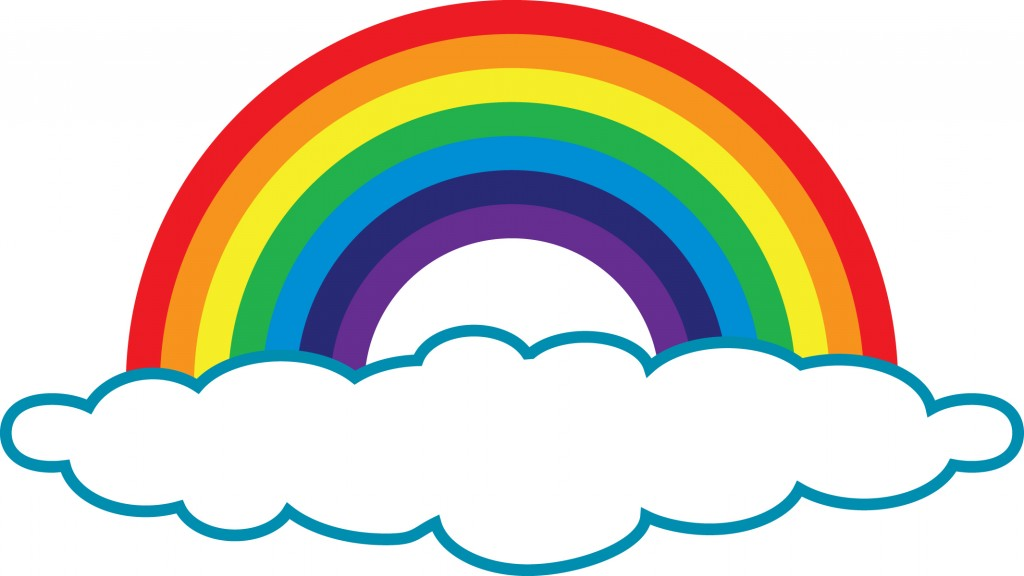 1024x576 Color clipart rainbow cloud