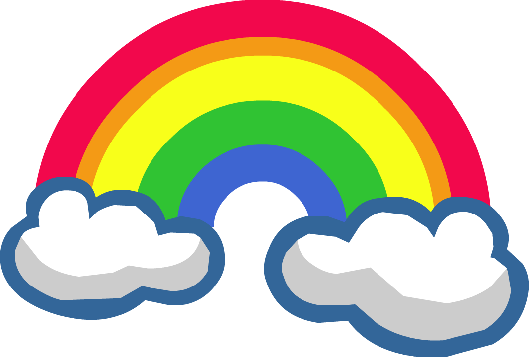 1065x719 Rainbow Twenty eight Isolated Stock Photo by