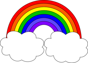 299x213 Rainbow With Clouds Clip Art