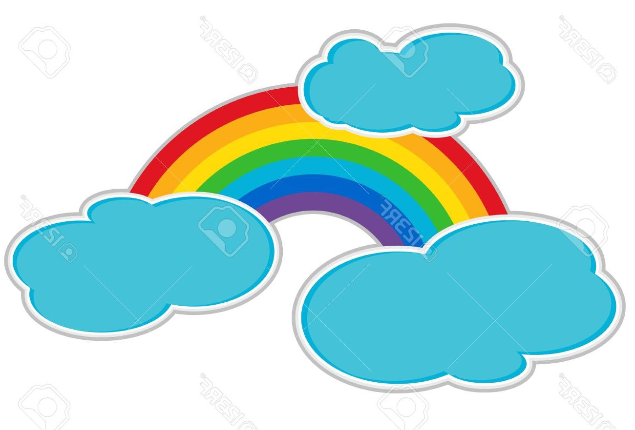 1300x882 Best 15 Rainbow And Clouds Stock Vector Cartoon Cdr
