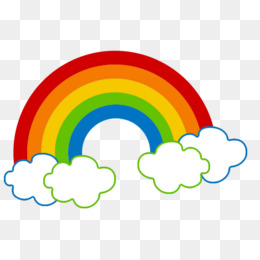 260x260 clouds and rainbow, Cloud, Rainbow, Vector Cloud PNG and Vector