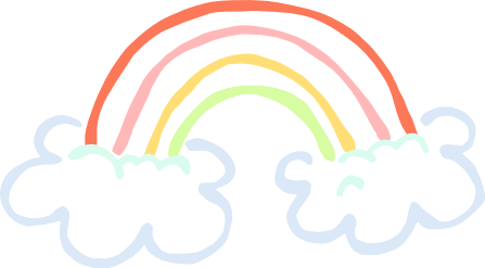 447x247 rainbow on clouds