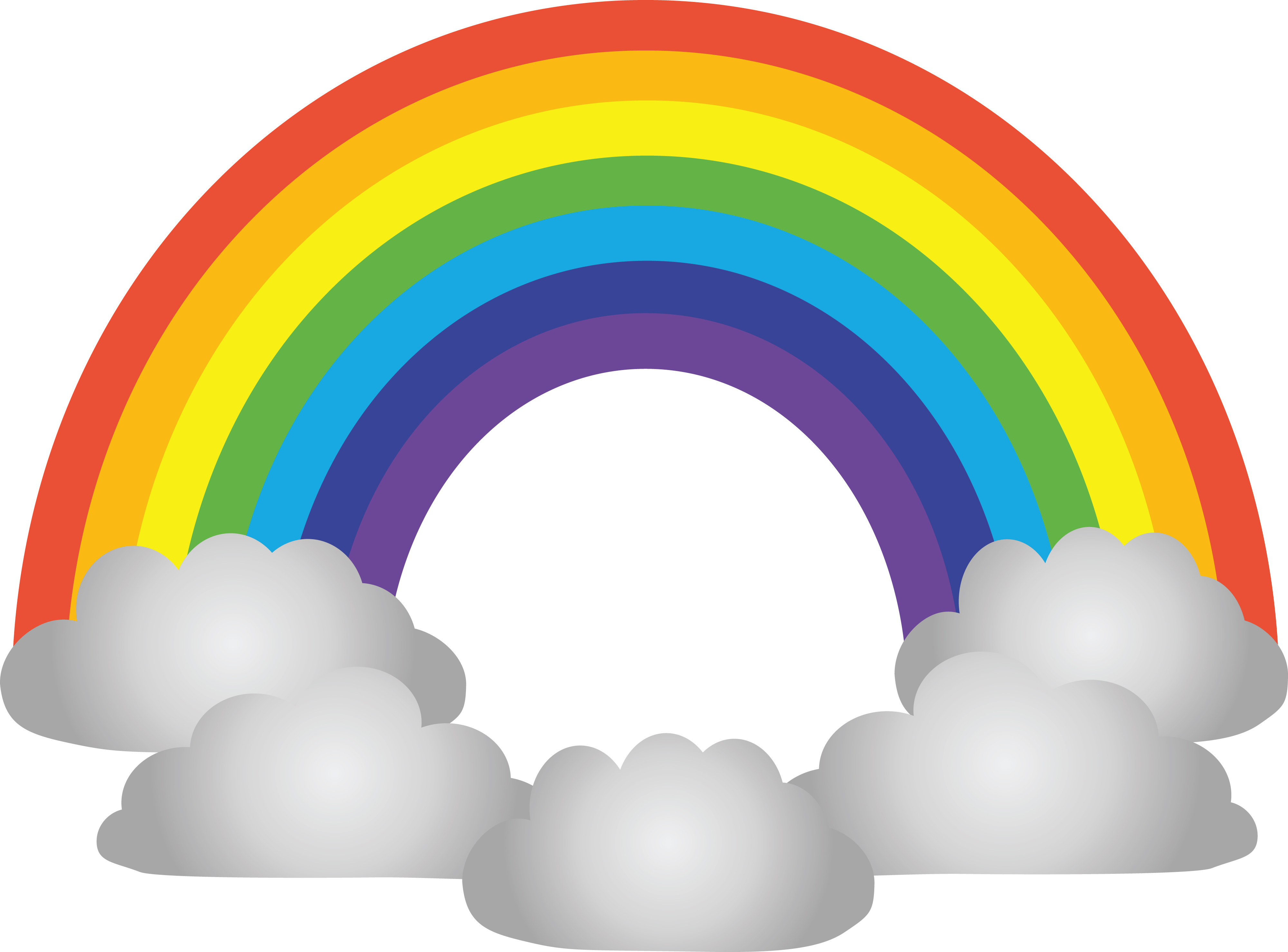 4000x2959 Clipart Of a rainbow and clouds