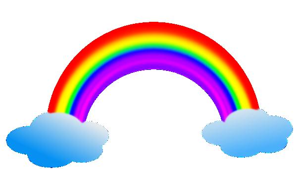 600x341 Rainbow In Clouds Clip Art