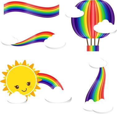 378x368 Rainbow Clouds Sun Rain Free Vector Download (4,025 Free Vector