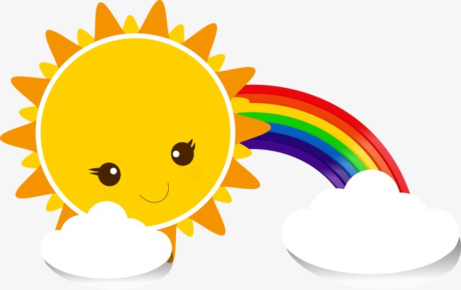 650x410 Sun rainbow clouds, Sun, Rainbow, Clouds PNG and Vector for Free