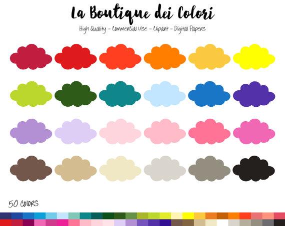 570x453 50 Rainbow Cloud Clip art, Digital illustrations PNG, cloudy