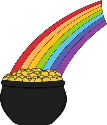 431x500 Pot Of Gold And Rainbow Clip Art