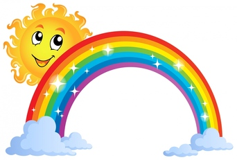 342x231 Pot Of Gold With Rainbow Free Clip Art