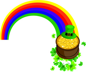 300x250 Rainbow Pot Of Gold Clipart Clipartfest