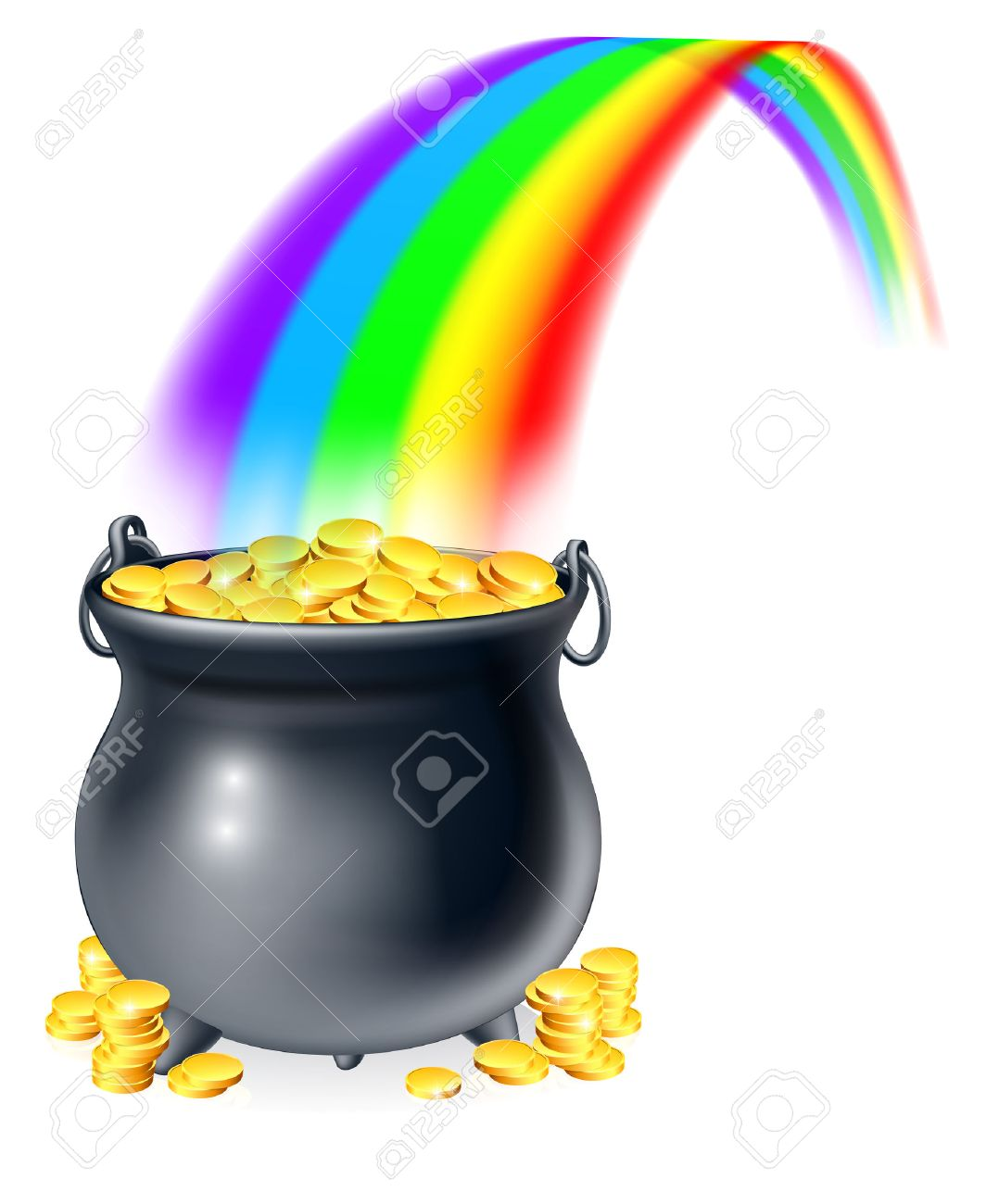 1078x1300 8,312 Pot Of Gold Stock Illustrations, Cliparts And Royalty Free