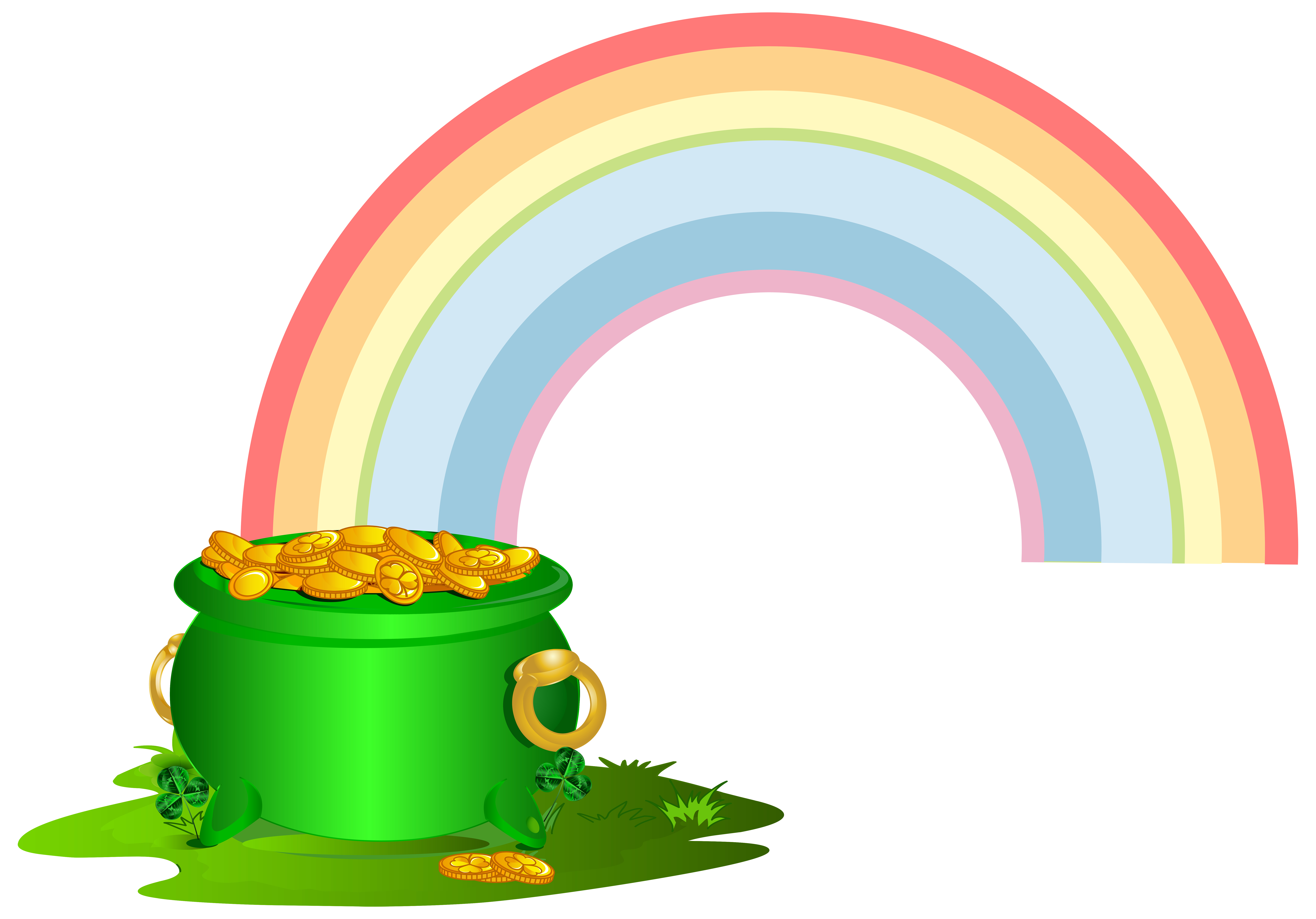 Rainbows With Pot Of Gold | Free download on ClipArtMag