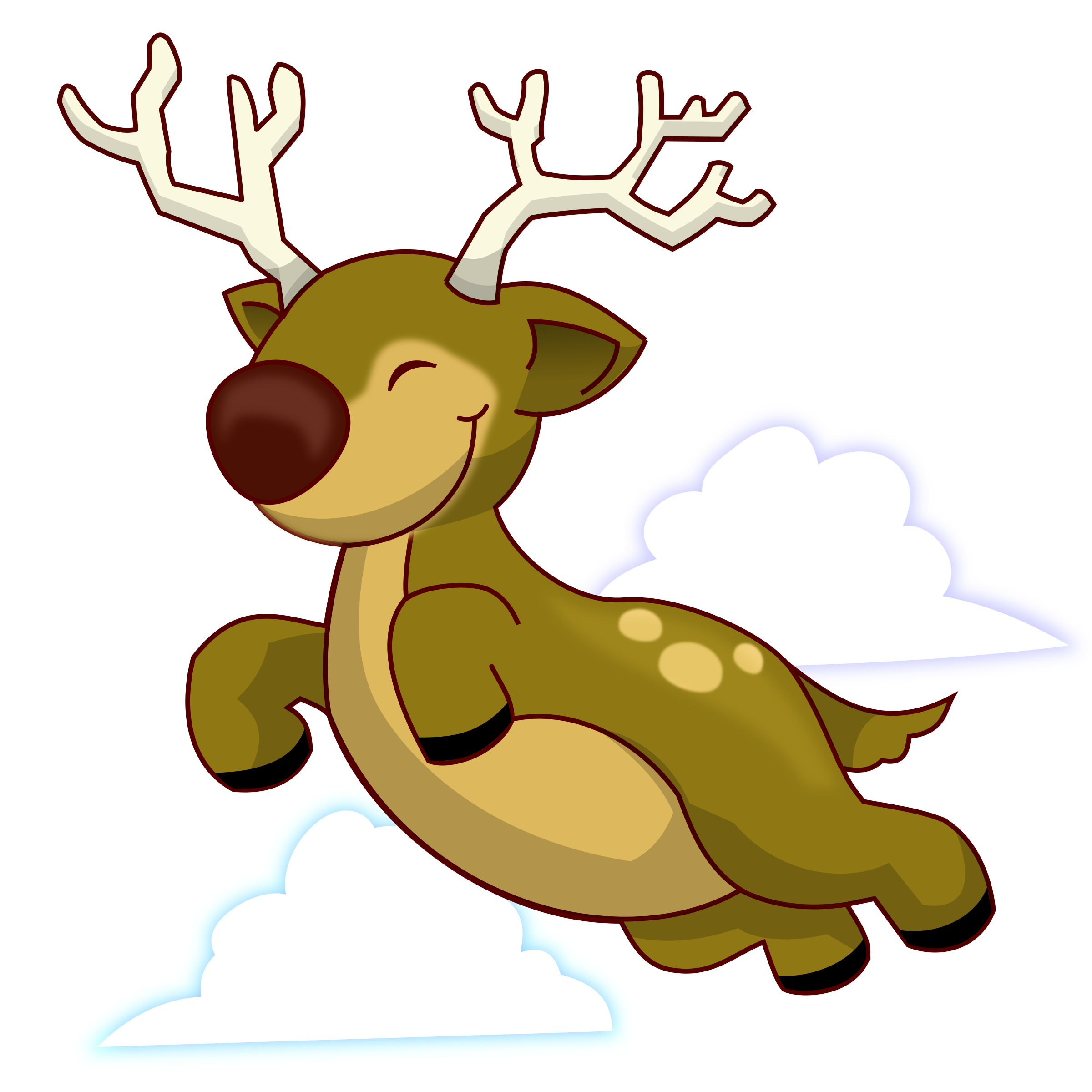 2400x2400 Reindeer Clipart Reindeer Flying