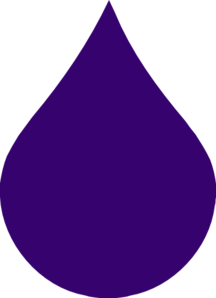 216x298 Purple Rain Drop Clip Art