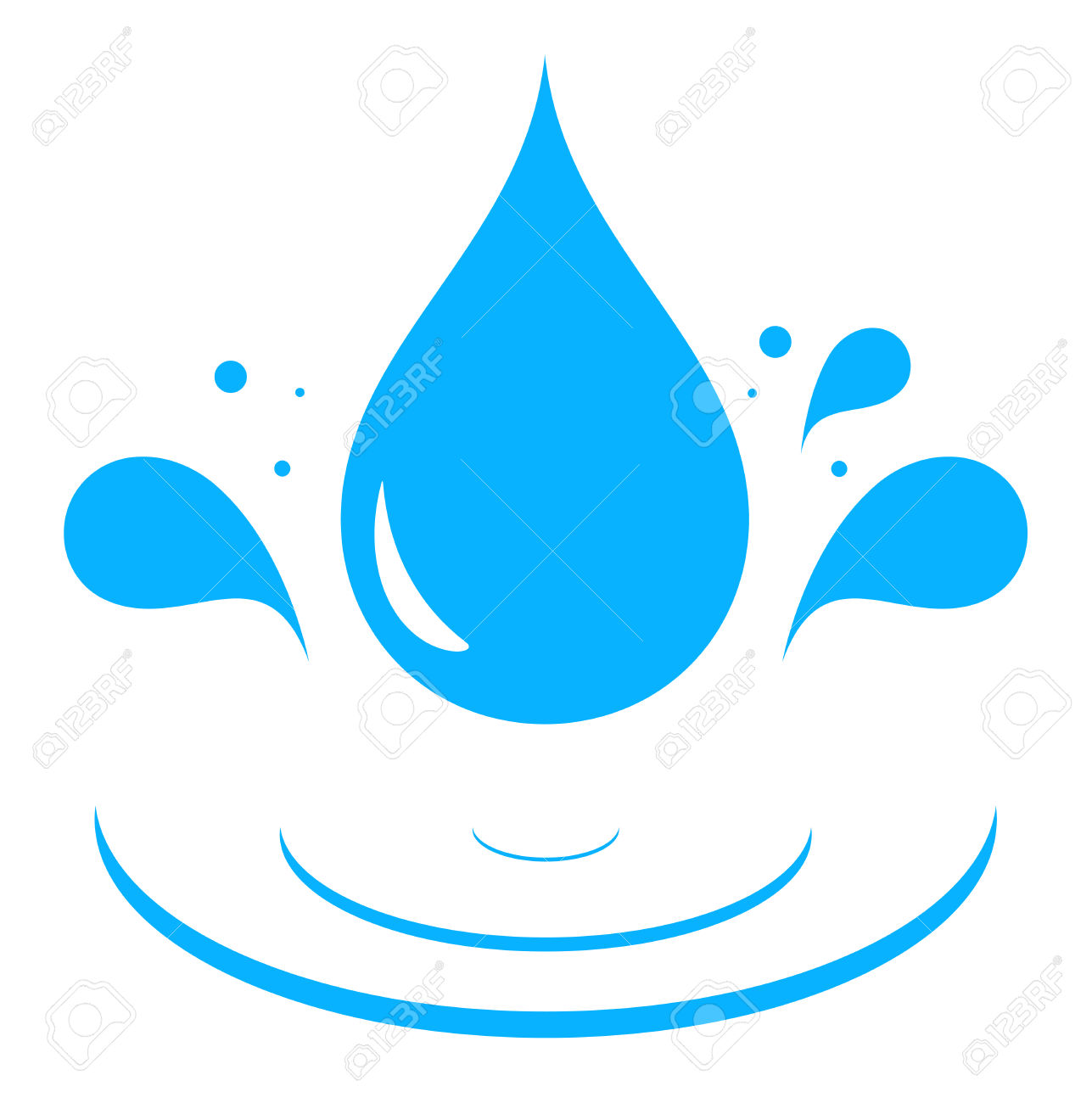 1287x1300 Water Drop Clipart Silhouette