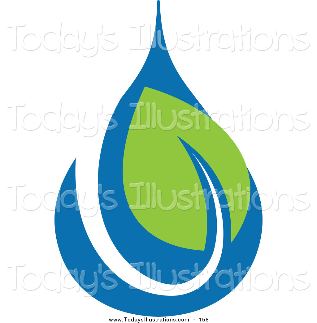 1024x1044 Clipart Of A Green And Blue Ecology Logo Icon