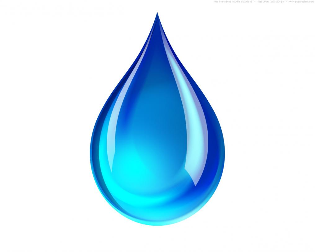 1016x813 Blue Water Clipart Raindrop