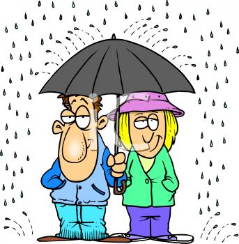 343x350 It's Raining Clipart
