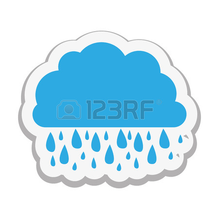 450x450 Partly Covered Cartoon Sun With Rain Clouds Icon Image Vector